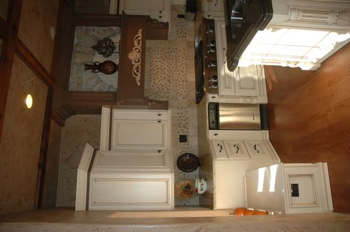 Custom Made Painted And Glazed French Country Kitchen