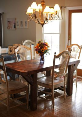 Custom Farmhouse Dining Table By The Lazarus Wood Project