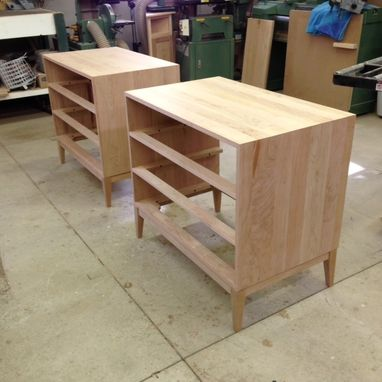 Custom Made Cherry Dressers With Curly Maple Drawer Fronts