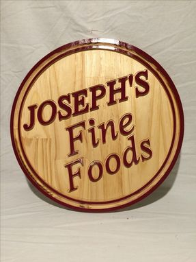 Custom Made Small Business Sign And Offices Wall Sign With Your Logo Or Business Named Sign Small Round Sign