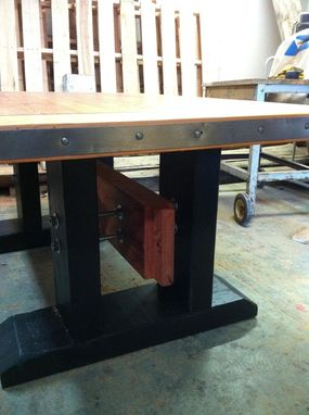 Custom Made Post And Beam Grand Dining Table