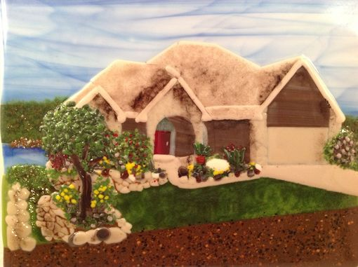 Custom Made Landscape Pictures In Fused Glass