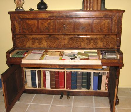 Hand Made Piano Bar Cabinet By Michael Meyer Fine