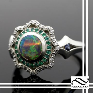 Custom Made Custom Opal Halo Ring