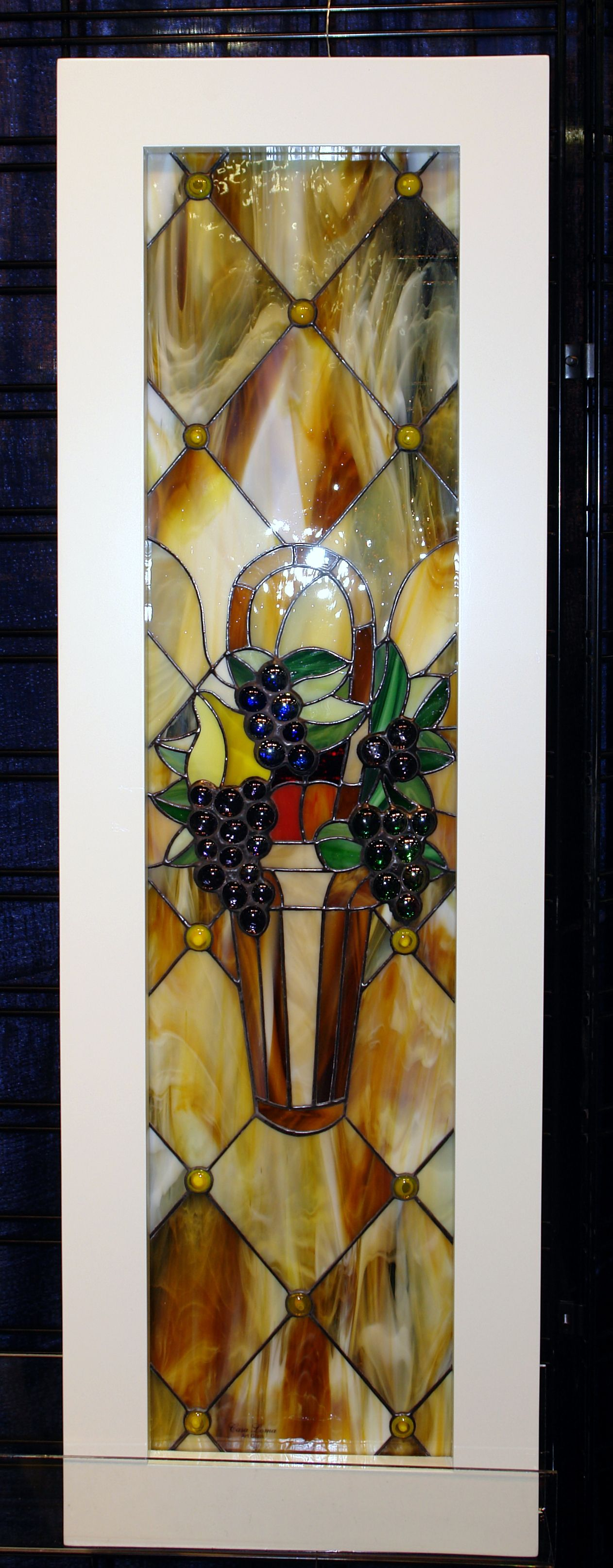 Hand Made Stained And Designed Glass Cabinet Inserts By