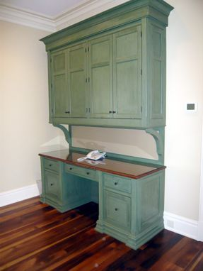 Custom Made Traditional Desk - Green Milk Paint Finish