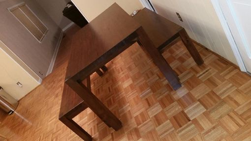 Custom Made Custom Simple Dining Table With Matching Benches