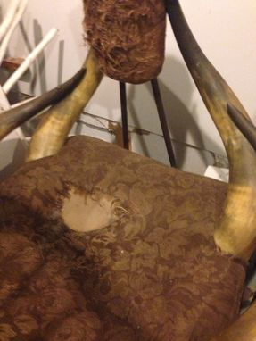 Custom Made Antique Longhorn Chair