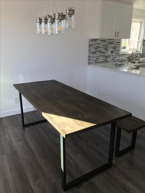Custom Made Poplar Dining Table With Steel Legs