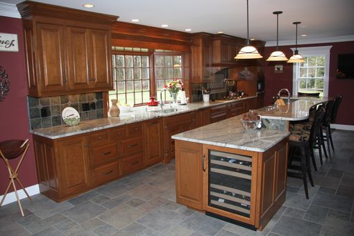 Custom Made Stained Cherry Cabinetry