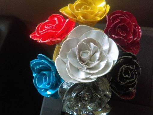 Custom Made Duct Tape Flowers (With Or Without Pen)