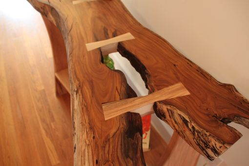 Custom Made Foyer Hall Table - Natural Edge Top - Truly One Of A Kind