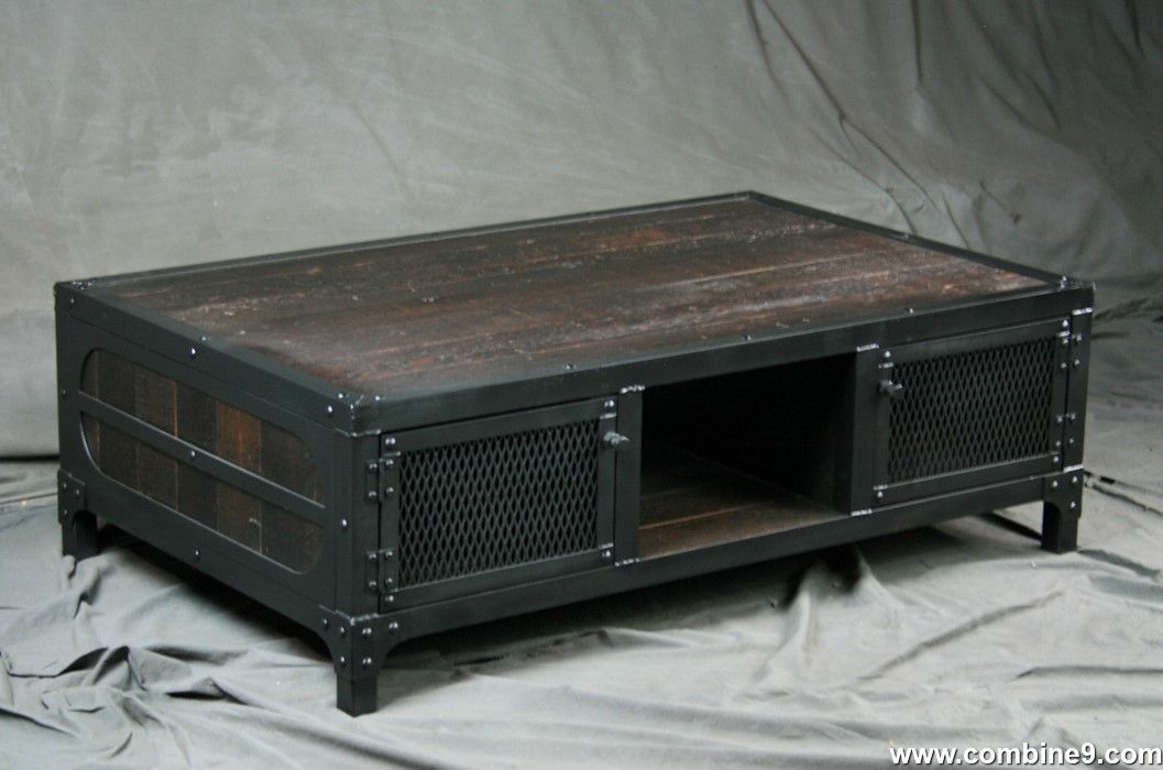 Buy A Custom Made Vintage Style Coffee Table Reclaimed Wood And