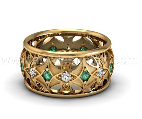 Custom Made Geometric Pattern Ring