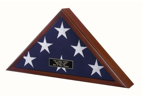 Custom Made Officers Flag Display Case Burial Flag Coffin Flag Case