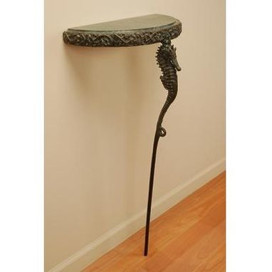 Custom Made Sea Horse Single Leg Console