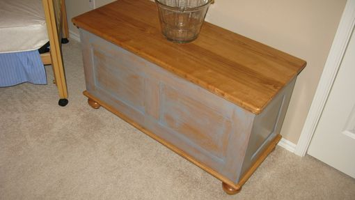 Custom Made Blanket Chest - Maple - Cedar Lined