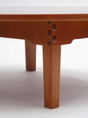 Custom Made Japanese Chabudai, A Low Folding Table