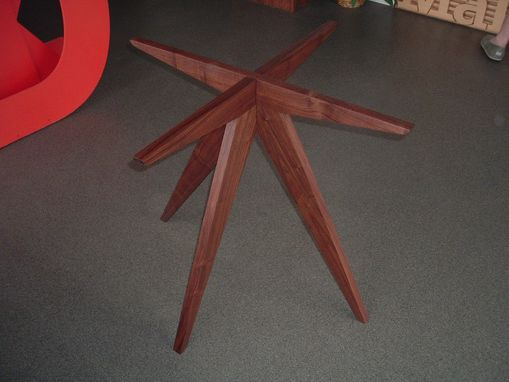 "Custom Made ""Teepee"" Table Base In Walnut"