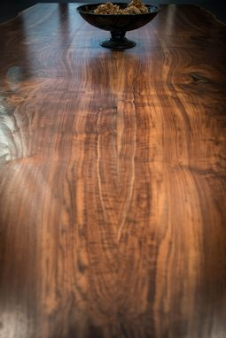 Custom Made Claro Walnut Slab Dining Table