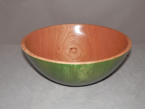 Custom Made Cherry Bowl With Green Dye.