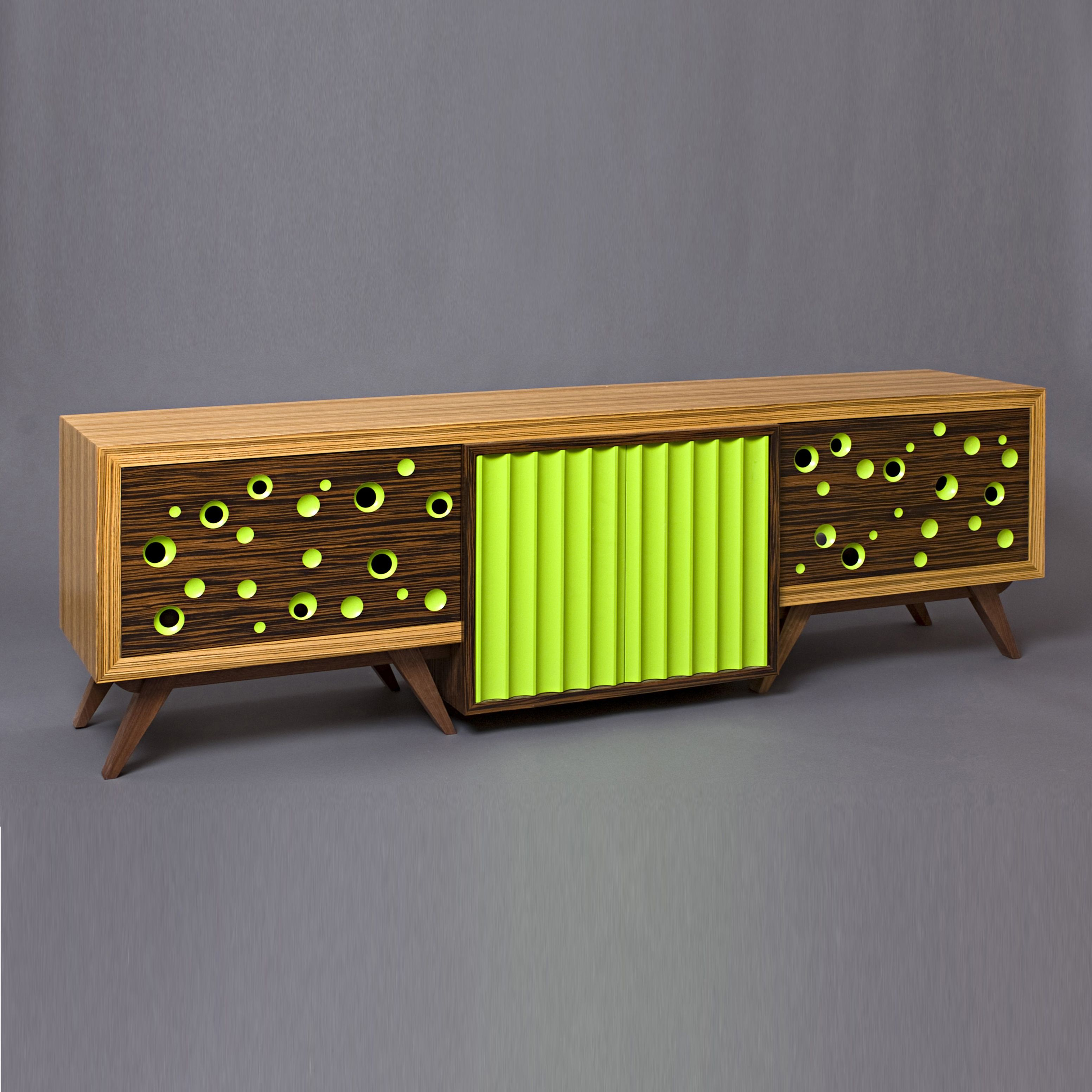 Custom Made Tv Stand Mid Century Modern Media Console Entertainment Center Retro