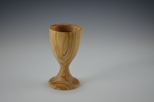 Custom Made Candle Sticks And Kiddish Cup Out Of Olivewood