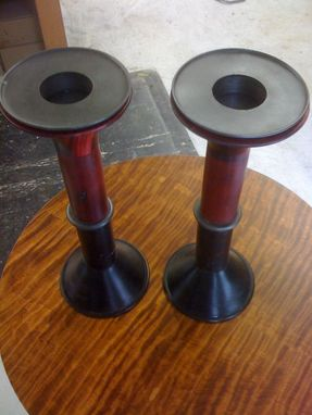 Custom Made Trinity Wall Street Church Candle Holders