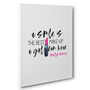 Custom Made A Smile Is The Best Makeup Motivational Canvas Wall Art