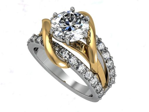 Custom Made Two-Tone Engagement Ring