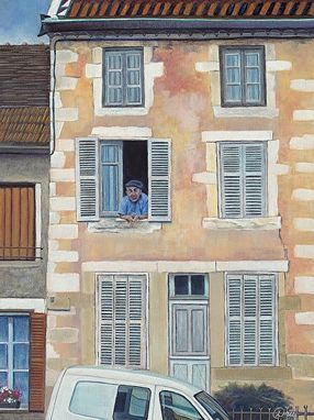 Custom Made French Onlooker (Beze France) Oil Painting - Limited Edition Paper Print