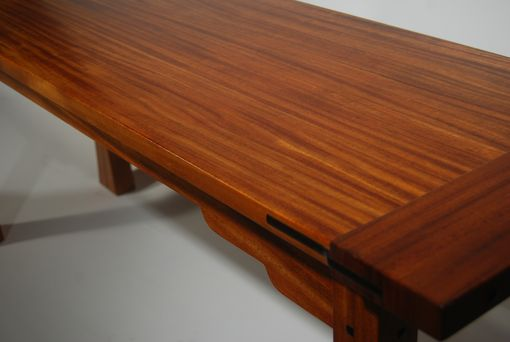 Custom Made Greene And Greene Inspired Mahogany Table