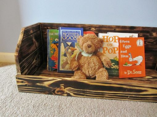 Custom Made Bookshelf Or Toy Storage Crate Made From Reclaimed Wood Pallets