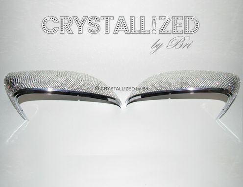 Custom Made Crystallized Car Side Mirror Caps Made With Swarovski Crystals - Pair