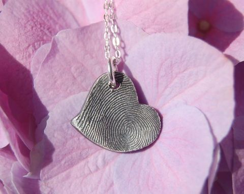 Custom Made Custom Fingerprint Keepsake Jewelry