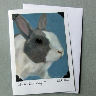 Custom Made Rabbit Card - Easter Card - Bunny Postcard Greeting Card Combination