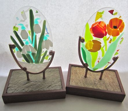 Custom Made Fused Glass Art - Parent Gifts