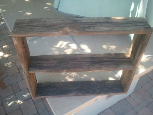 Custom Made Simple Wood Shelf With Two Compartments