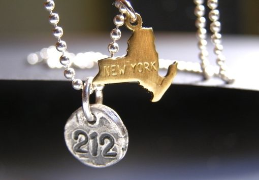 Custom Made Stomping Grounds State Area Code ,New York, New Jersey Necklace Jewelry