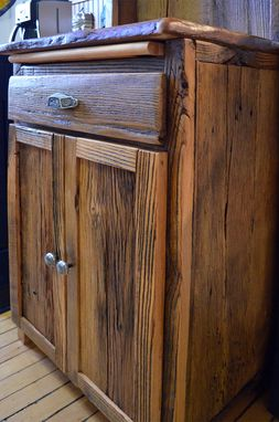Custom Made Rustic Kitchen Island/Spice Cabinet