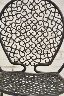Custom Made Wrought Iron Chair