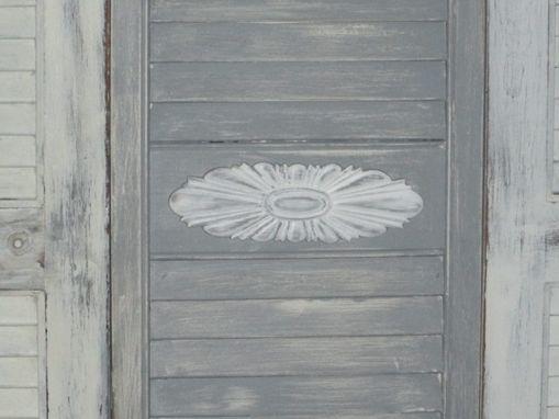 Hand Made Louvered Door Headboard By Juxtapose Art