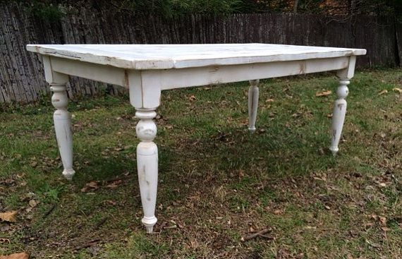 Custom Made Reclaimed Wood French Country Farmhouse Table With Beautiful Turned Legs