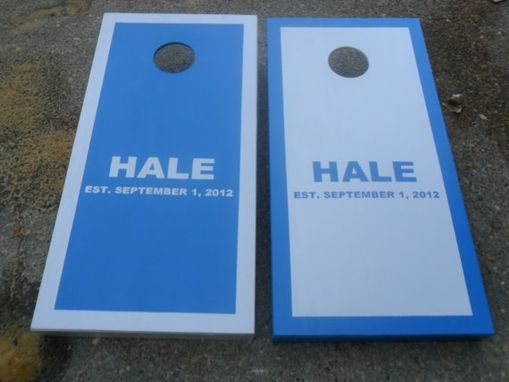 "Custom Made Personalized 3 Letter Monogram - Custom Corn Hole ""Baggo"" Board Game Set - Wedding Party Favor"