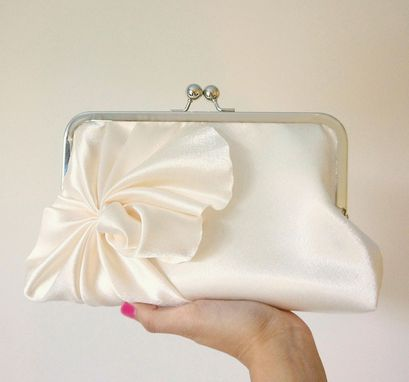 Custom Made Art Deco Bridal Clutch Purse With Swirls