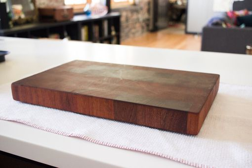 Custom Made Mahogany End Grain Cutting Board - Gifts For Chefs - Gifts For Him