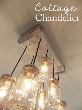 Custom Cottage Mason Jar Chandelier By Rubbishloveshoppe
