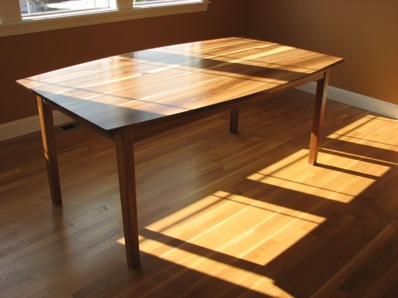 Custom Elm Bow Top Dining Table By Poised Fine Wood Art