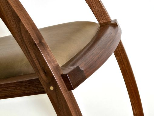 Custom Made Scandinavian Style Rocking Chair With Long Elegant Rockers