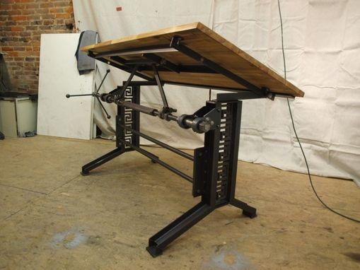 Custom Industrial Drafting Desk By Camposironworks